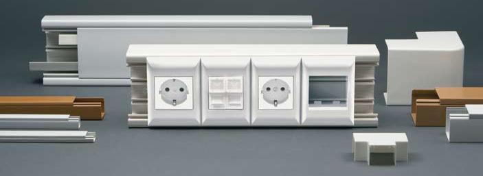 Монтажные короба (кабель-каналы)  и электро-установочные изделия
