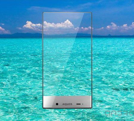 Еще один безрамочный смартфон Aquos Crystal:
